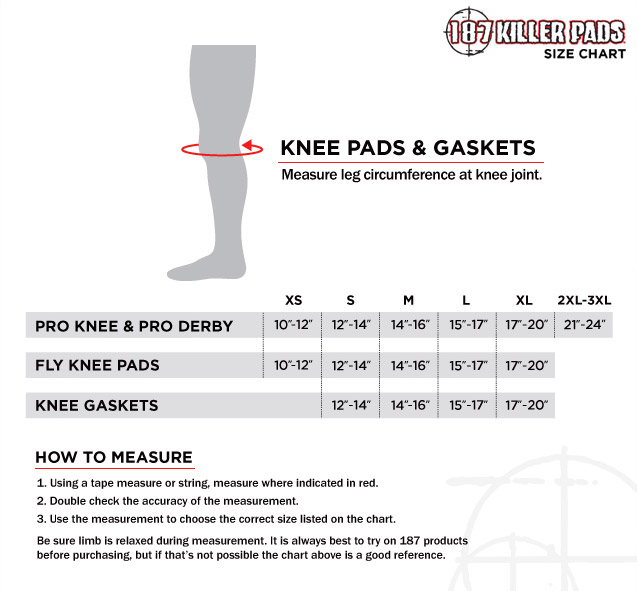 187KneePad GasketSizing