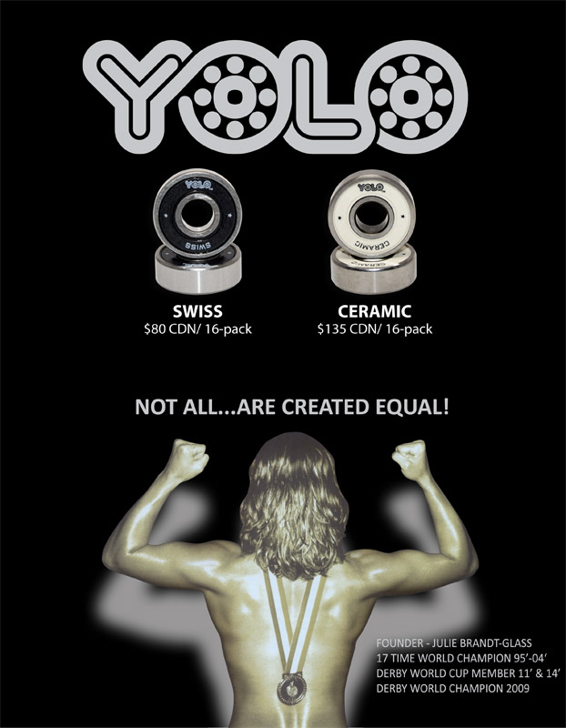 YOLO SWISS Bearings 8mm  16-Pack MOTA Factory Direct!
