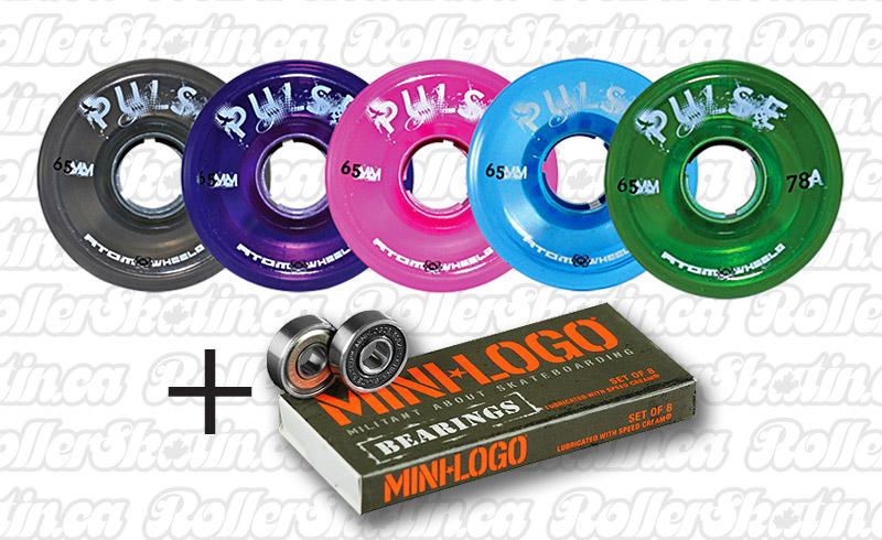 INSTOCK! ATOM Pulse Outdoor Wheels 8-Pack+ MINI-LOGO Bearings Installed!