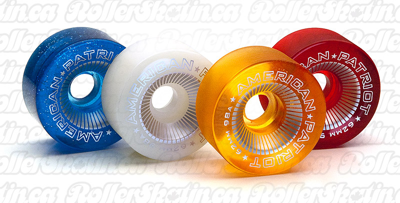 American Patriot Recreational Indoor Wheel 98A 62mm Set of 8!