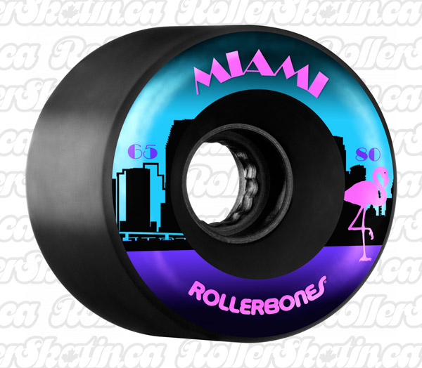 RollerBones MIAMI Outdoor Wheels 80A 8-Pack