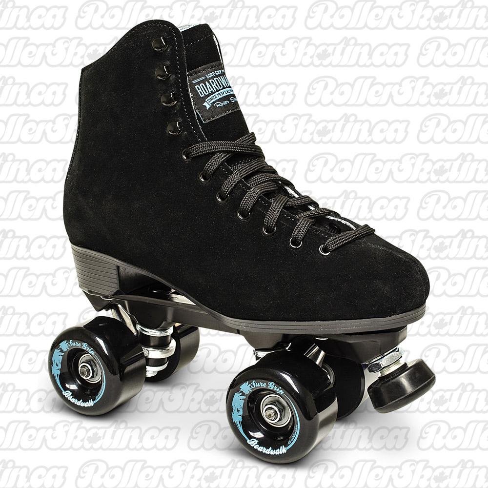 INSTOCK! SURE-GRIP BOARDWALK Black Outdoor Roller Skate