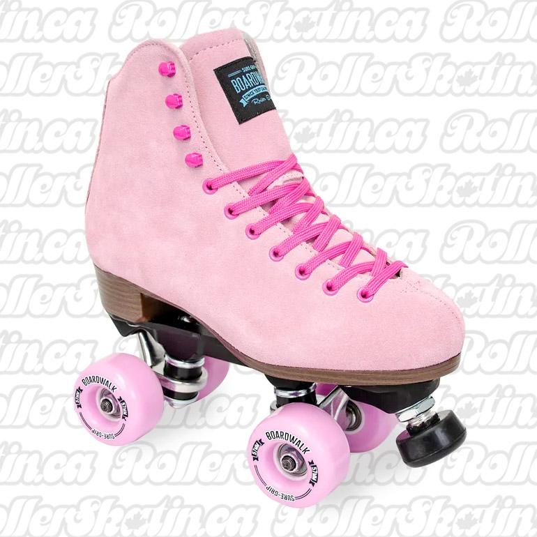 INSTOCK! SURE-GRIP BOARDWALK TeaBerry Pink Outdoor Roller Skate