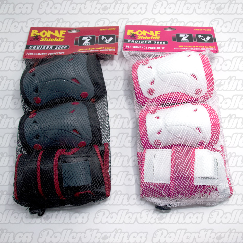 INSTOCK! BONE Shieldz Cruiser Youth Kids Safety 3-Pack Pad Set (5-10 yrs.)