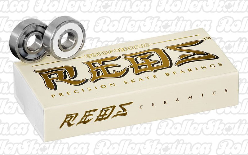 BONES Ceramic Super Reds Bearings 8mm 16-Pack