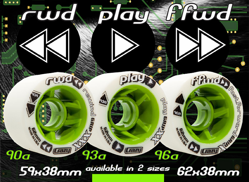 CRAZY Control Derby Wheels 8-Packs