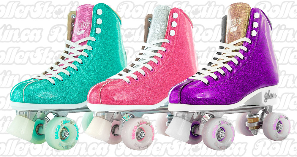 INSTOCK! Last One! CRAZY DISCO GLAM Indoor/Outdoor Roller Skates