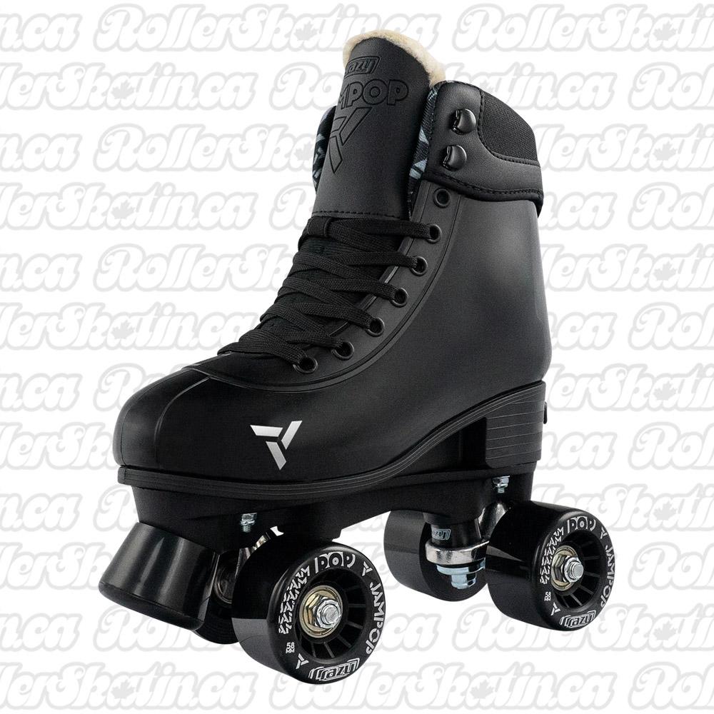 INSTOCK! CRAZY JAM POP Black Adjustable Size J12-2  Roller Skates