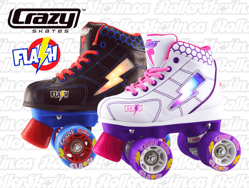 Last Ones ! INSTOCK CRAZY Flash Junior Light-Up Skate