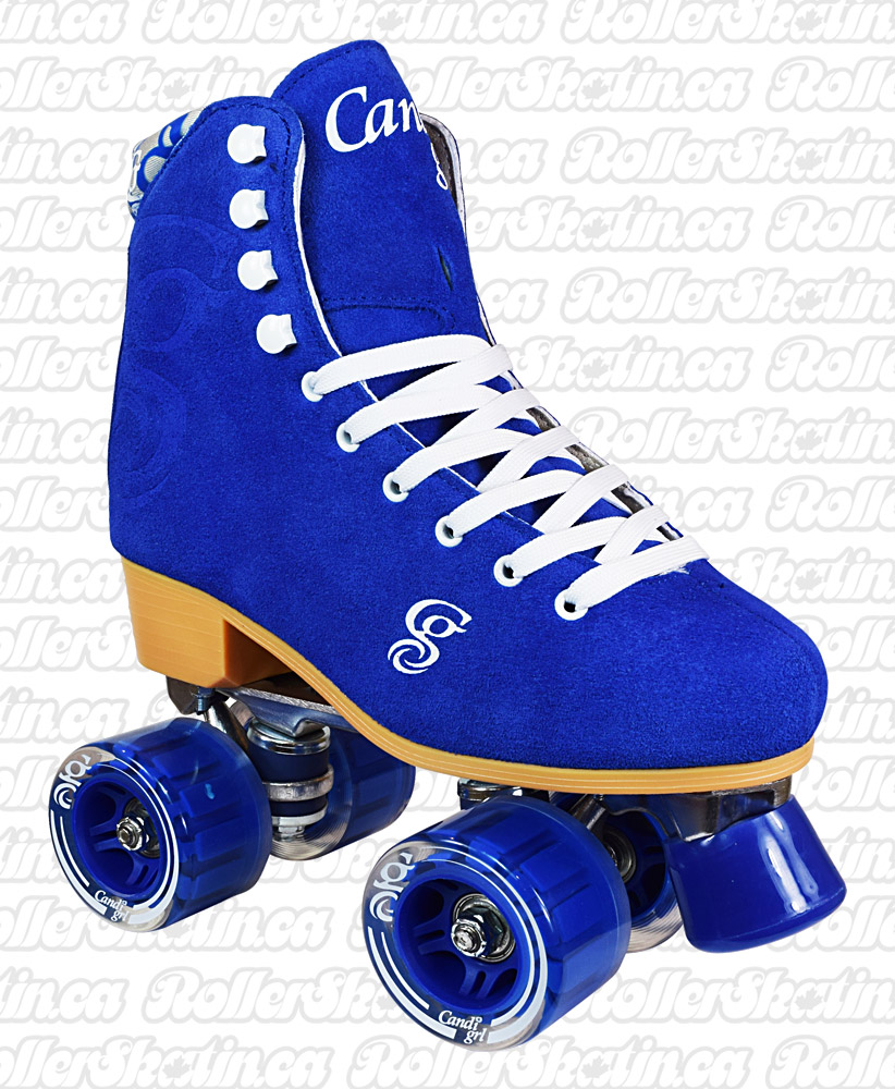 Candi Girl Carlin Blue Suede Skates - Size 4 only!