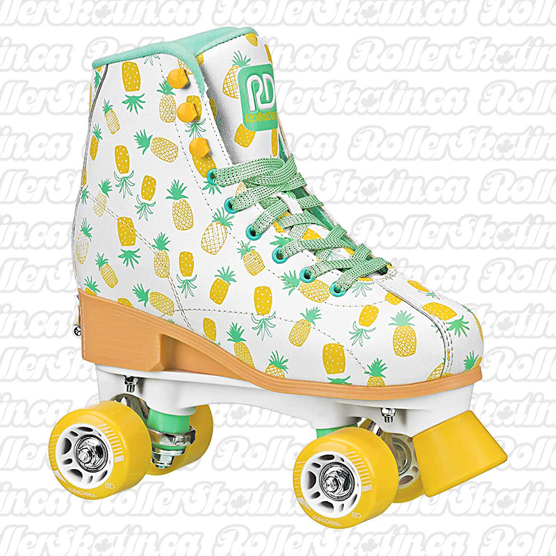 INSTOCK! Candi Girl Pineapple Lucy - Size Adjustable 12-2 Youth Roller Skates