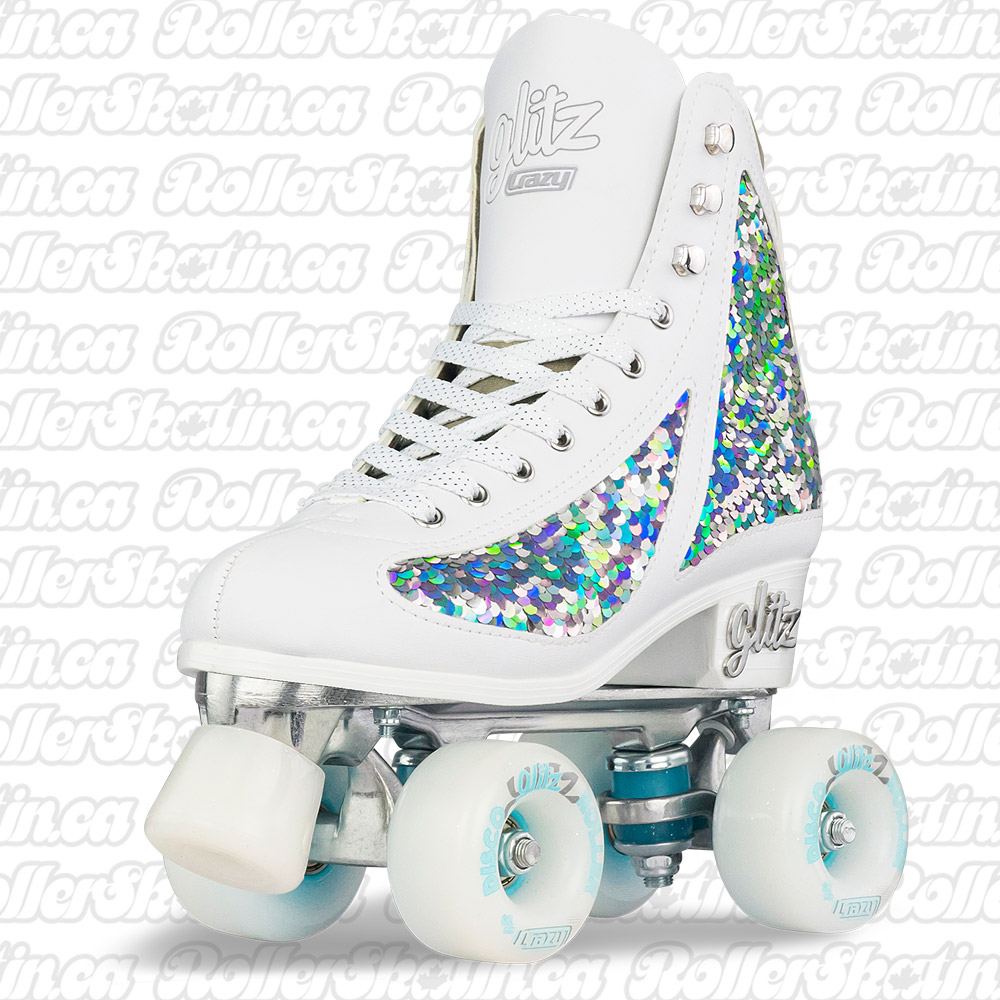 INSTOCK! New Colours! CRAZY DISCO GLITZ Indoor/Outdoor Roller Skates!