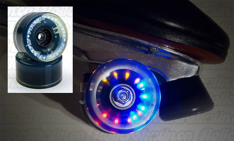 Set of 8 FireFly Light-Up Wheels with abec 3 Bearings pre-installed!
