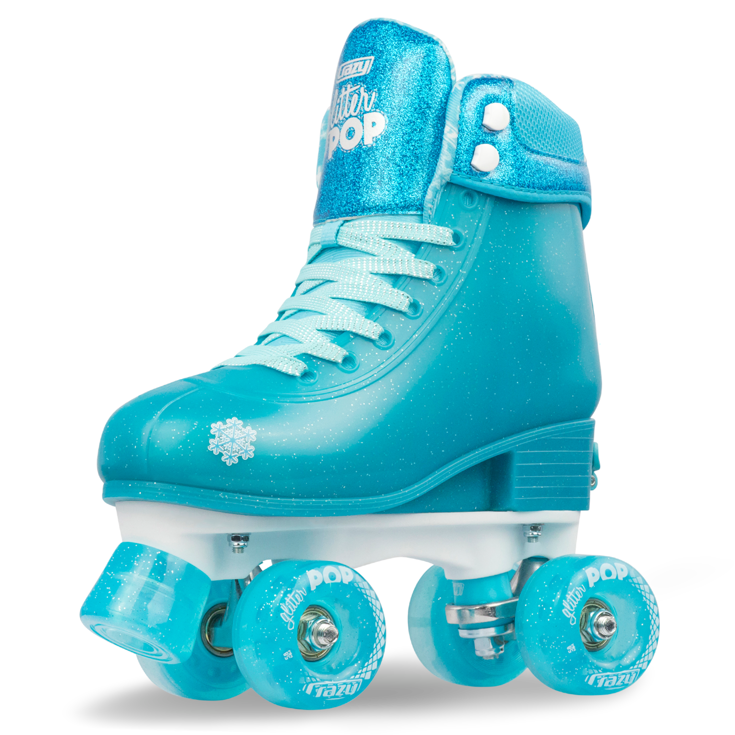 INSTOCK! CRAZY Glitter Teal POP Adjustable Size 3-6 Roller Skates