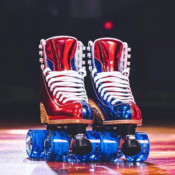 INSTOCK! Last ones Ladies size 7 Jackson EVO Nylon Plate Shiny Outdoor Roller Skates