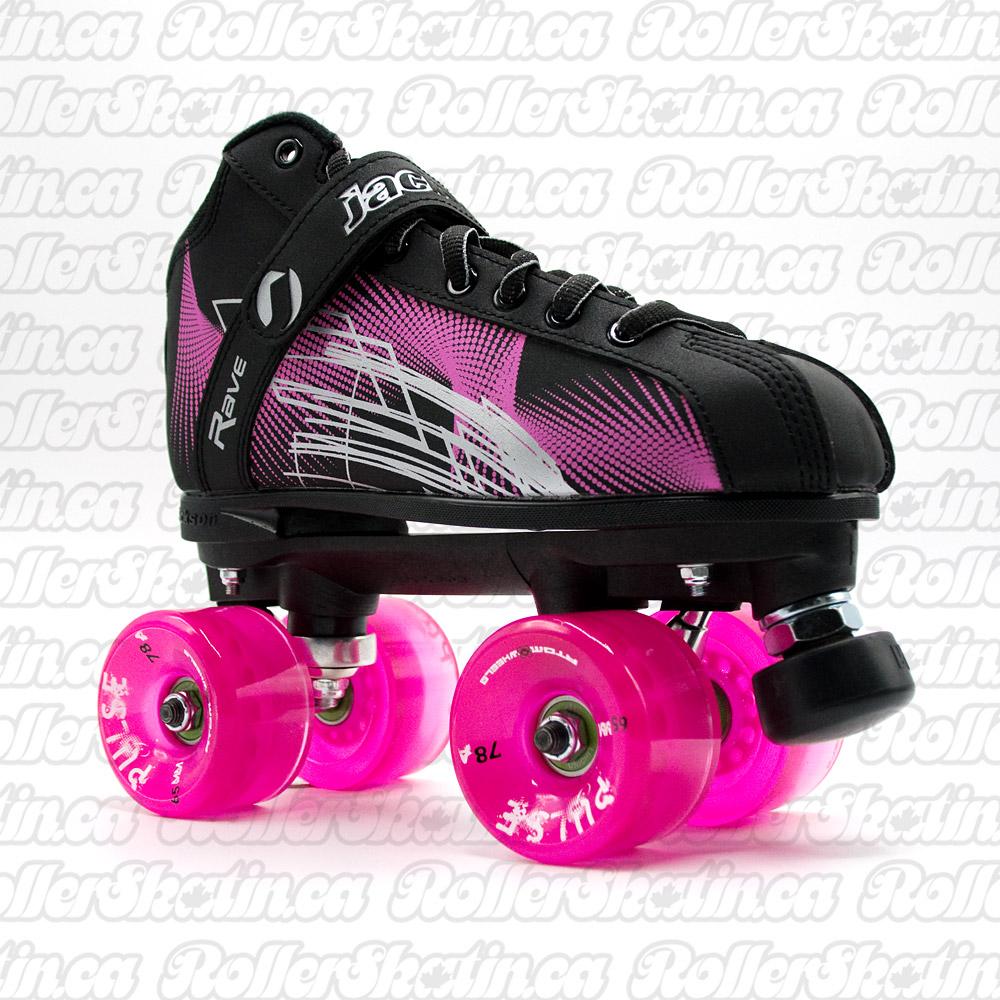 ATOM Rave Pink/Black Outdoor Skates