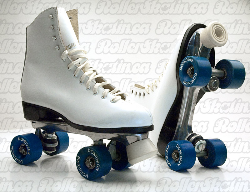 DOMINION 671 Classic White Leather + Suede Interior Size 10 Ladies Rink Roller Skate - Last Pair!