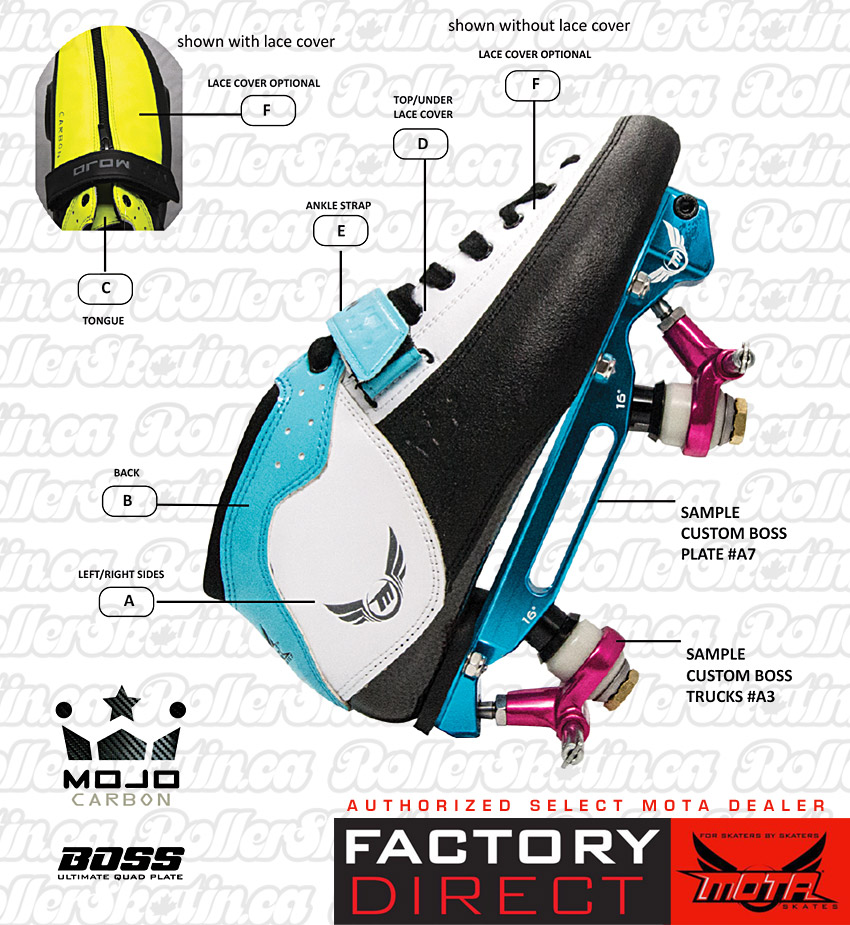 Mota Mojo Custom Carbon Boot with Custom BOSS Plate Combo