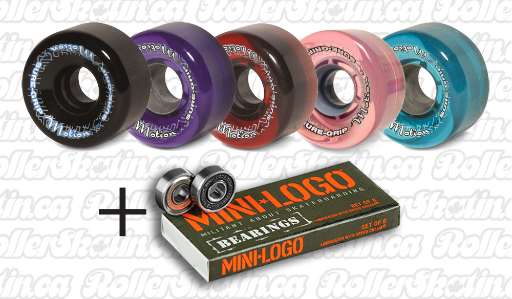 INSTOCK! Sure-Grip MOTION Outdoor Wheels 78A 8-Pack + Mini-Logo Bearings Installed!