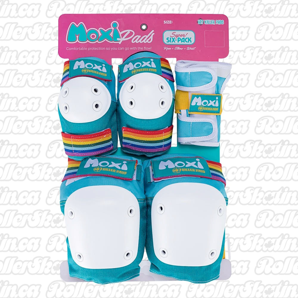 INSTOCK! MOXI AND 187 TEAM Junior OR Adult Super Six Pack Pad Safety Sets!