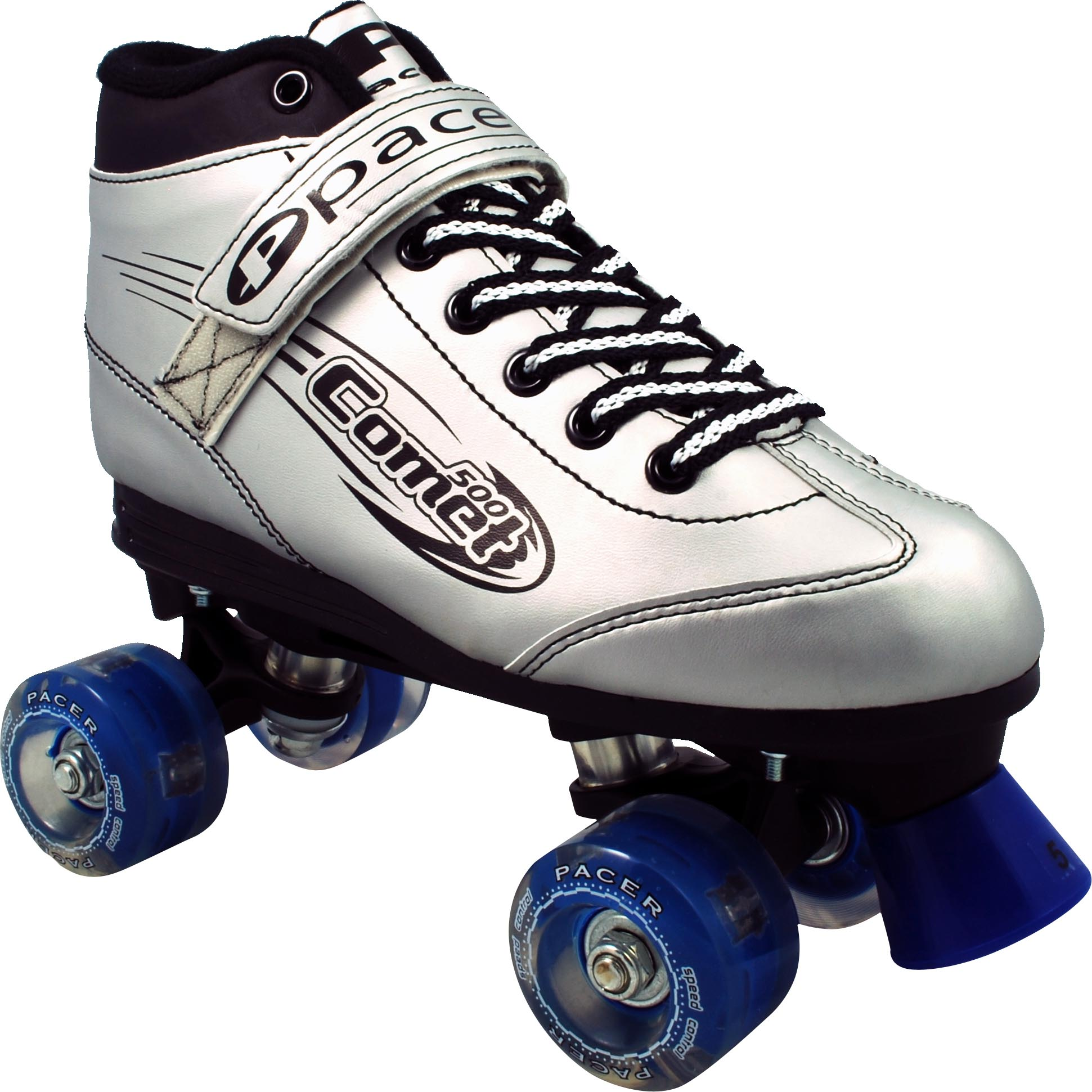 INSTOCK Pacer Silver Comet Light-Up Skates!