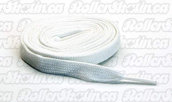 White Cotton Skate Laces