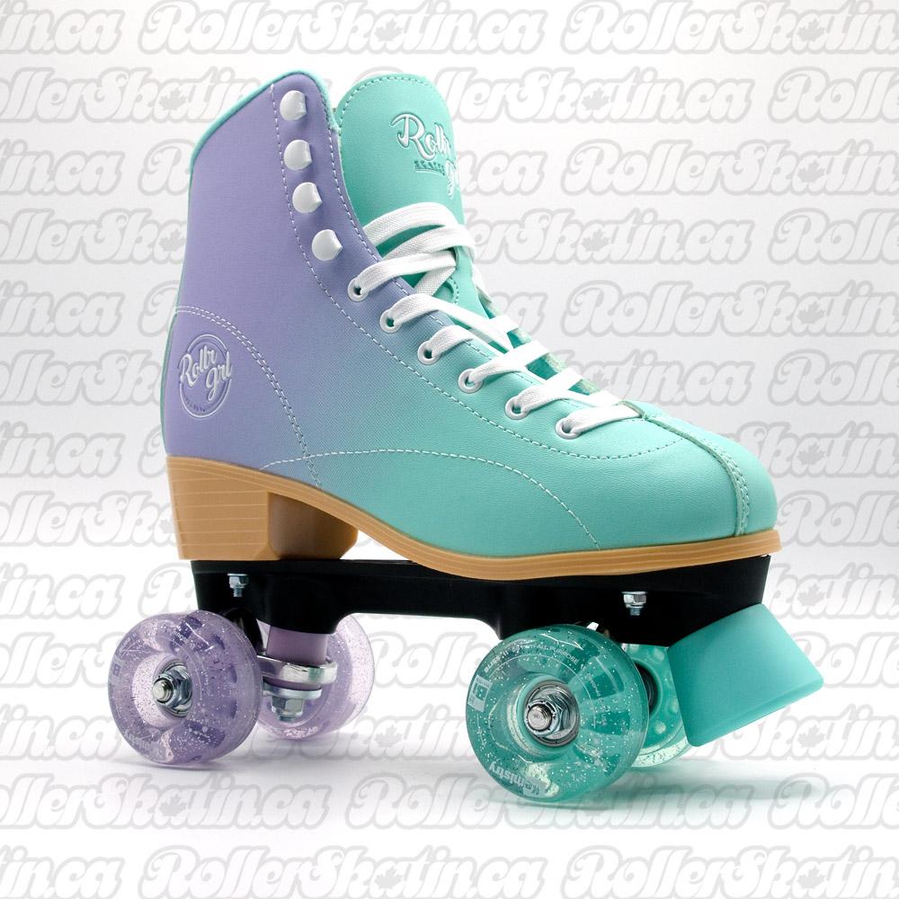 INSTOCK! Rollr Grl Lilly Mint/Purple Outdoor Roller Skates!