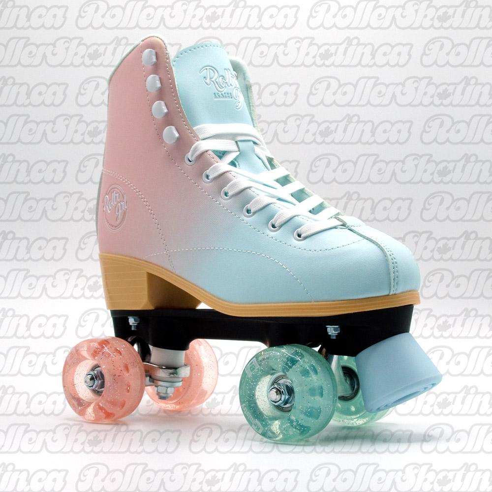 INSTOCK! Rollr Grl Lilly Blue/Pink Outdoor Roller Skates!