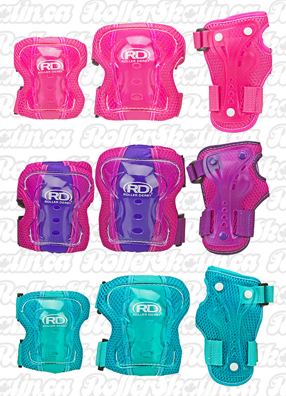 RD Junior Roller Derby Youth Kids Safety 3-Pack Pad Set (5-10 yrs.)