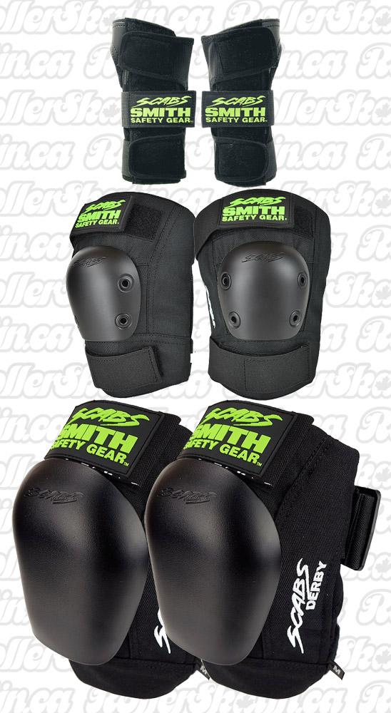 SMITH Scabs Premium Skate & Derby 3-Pack Safety Set!!