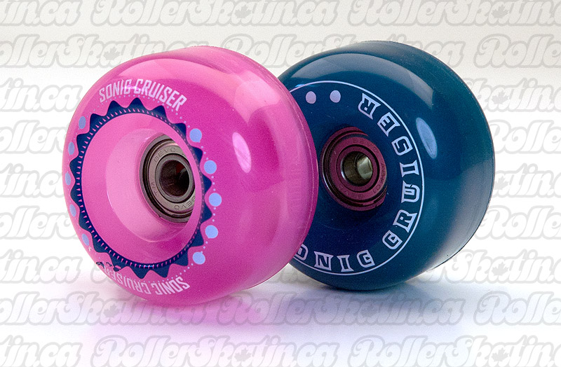 SONIC Cruiser Outdoor Wheels + ABEC 1 Bearings Installed Set of 8!