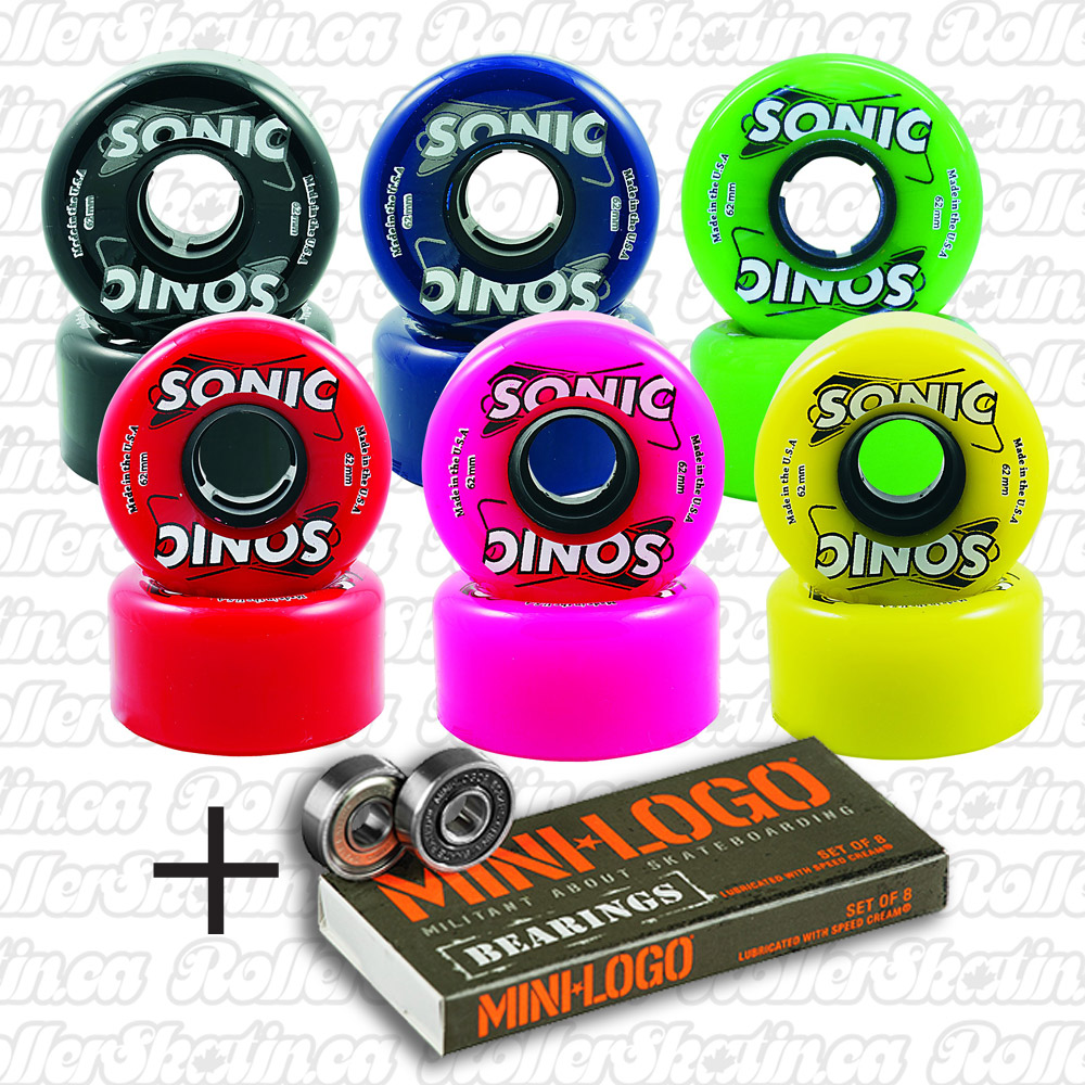 SONIC Outdoor Wheels 85A 8-Pack+ Mini-Logo Bearings Installed!