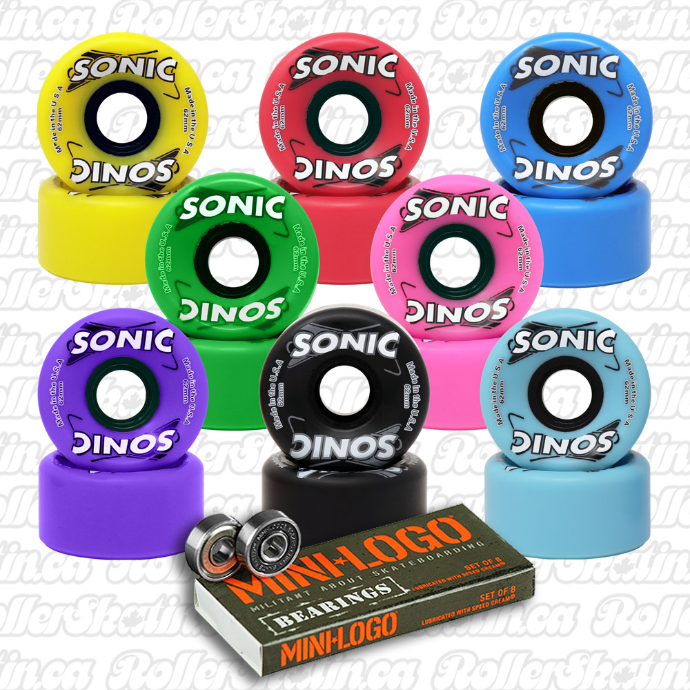 INSTOCK! SONIC Indoor/Outdoor Wheels 85A 8-Pack+ Mini-Logo Bearings Installed!