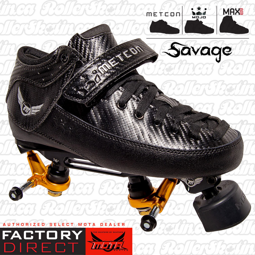 INSTOCK SALE - Mota Savage Or Hybrid Silver Boots + Custom Boss Plate Trucks Combo Factory Direct!