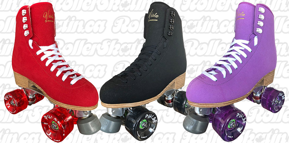 Jackson VISTA Viper Alloy Plate Suede Outdoor Roller Skates