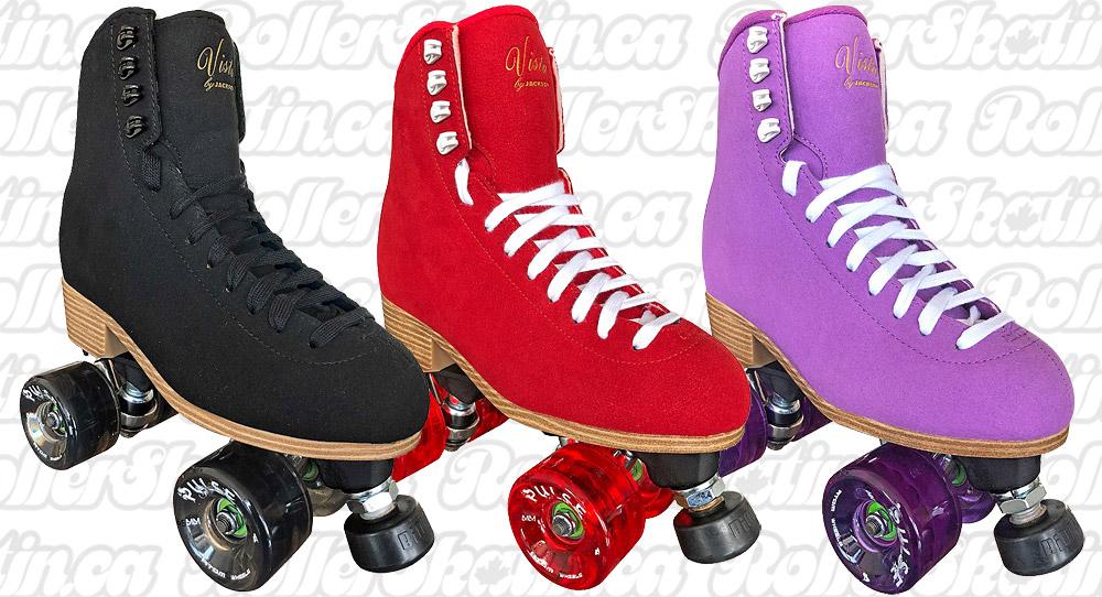 Pre-order Jackson VISTA Viper Nylon Plate Suede Outdoor Roller Skates