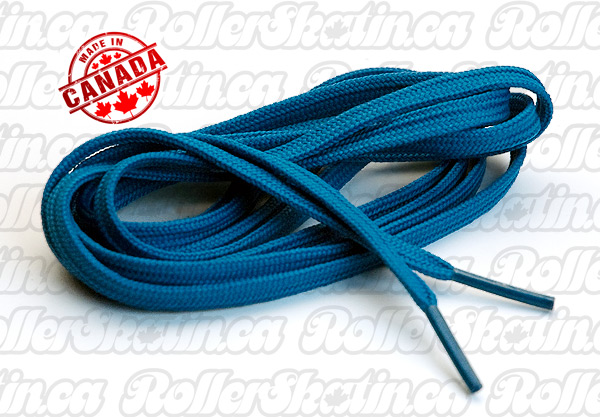 "Premium Blue Nylon Skate Laces 72"""