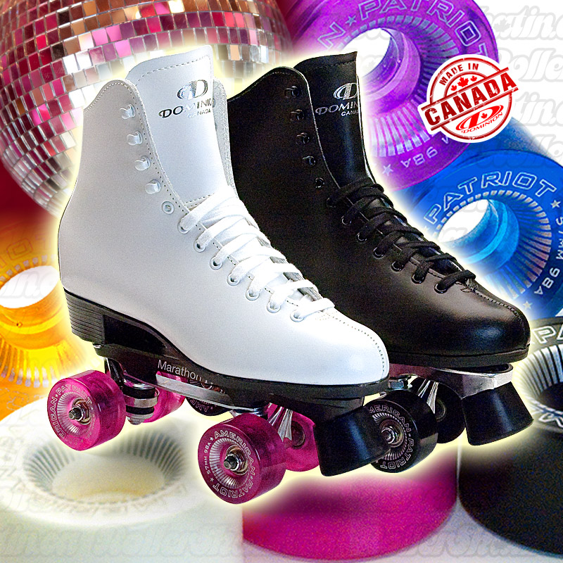 LAST ONES - INSTOCK DOMINION Classic Leather Rink Roller Skates - Made in Canada!