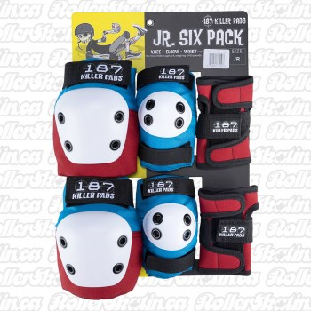 187 Killer Pads Junior Pad Set Red/White/Blue