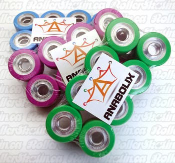 ANABOLIX REIGN Series Wheels 98A 99A 101A Solid Aluminum Hubs 8-Packs