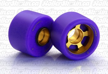 ANABOLIX VALENTE Series Purple Wheels 98A with Custom Gold Hubs Complete 8-Packs