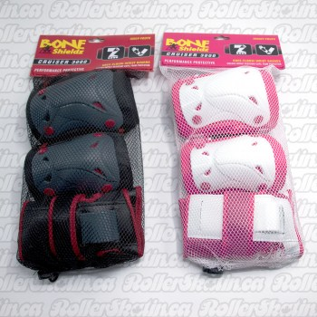BONE Shieldz Cruiser Youth Kids Safety 3-Pack Pad Set (5-10 yrs.)