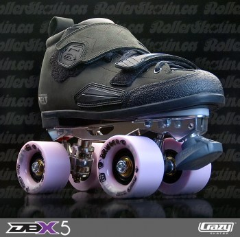 INSTOCK CRAZY DBX5 Leather Derby Skates - Last Ones!