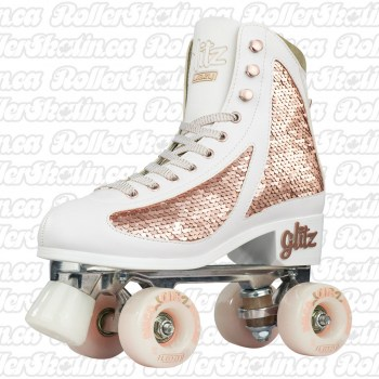 CRAZY DISCO GLITZ Rose Gold Roller Skates