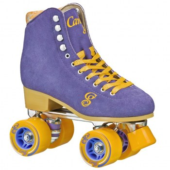 Candi Girl Carlin Periwinkle Suede Roller Skates!