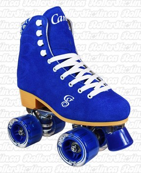 Candi Girl Carlin Blue Suede Skates