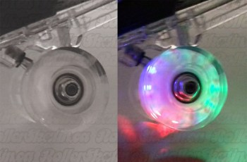 Set of 8 Clear Light-Up Wheels with abec 1 Bearings pre-installed!