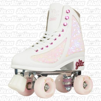 CRAZY DISCO GLITZ Strawberry Pearl Roller Skates