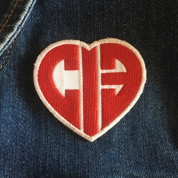 Chicks in Bowls CIB Heart Patch