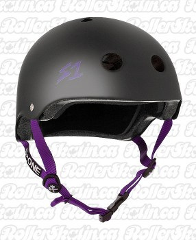 Black Matte Purple Straps